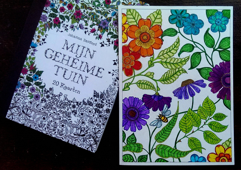 Kleuren voor volwassenen zelf te kleuren kaartenboekje van 39 mijn geheime tuin 39 postfabriek - Hoe om kleuren te maken ...