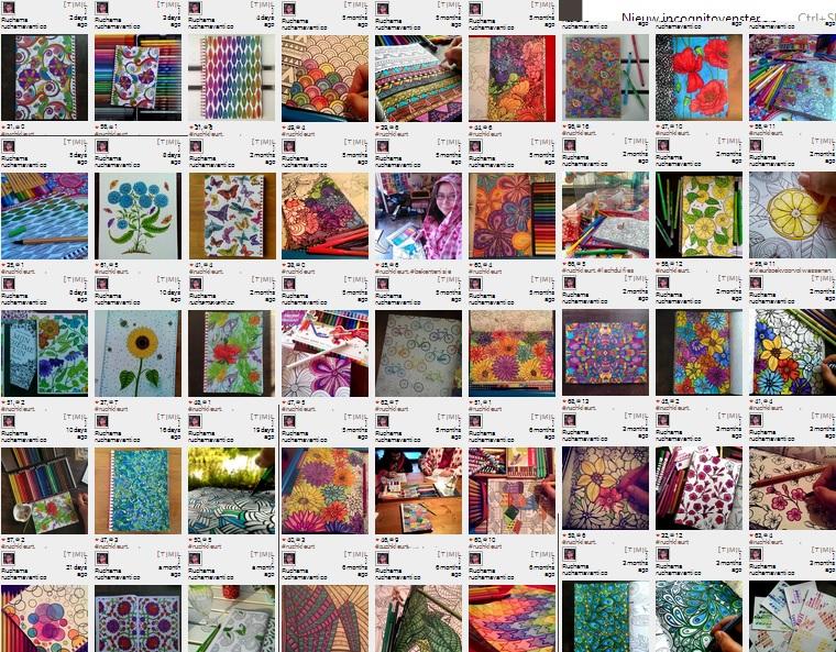 Kleurplaten Voor Volwassenen Mijn Geheime Tuin.Kleuren Voor Volwassenen Zelf Te Kleuren Kaartenboekje Van Mijn